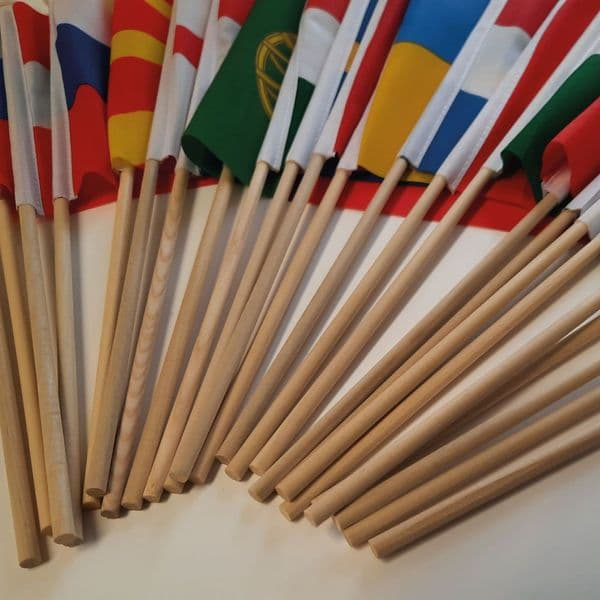 Euro 2020 - All 24 Competing Nations Hand Flags